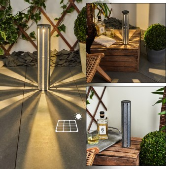 Hankinson Lámpara solar LED Plata, 1 luz