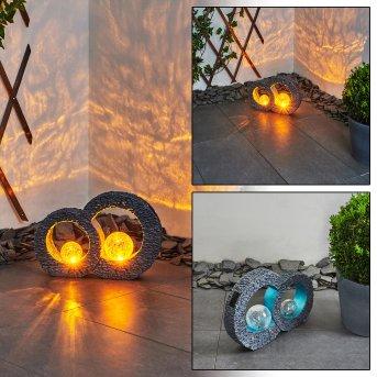 Siviri Lámpara solar LED Azul, Gris, Transparente, claro, 1 luz