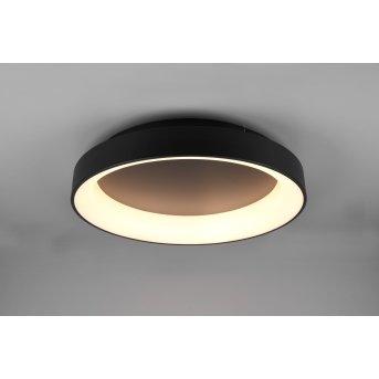 Trio Girona Lámpara de Techo LED Negro, 1 luz, Mando a distancia