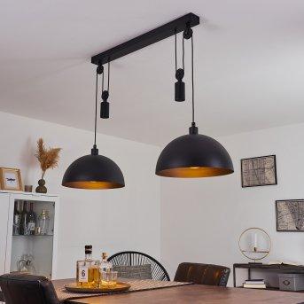 Manacales Lámpara Colgante Negro, 2 luces