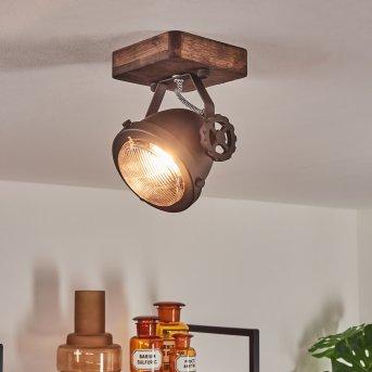 Herford Lámpara de Techo Marrón, Madera oscura, 1 luz