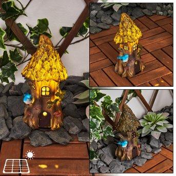 Katiao Lámpara solar LED Azul, Marrón, Naranja, 1 luz