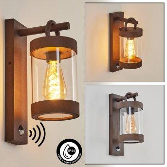 Fulham Aplique para exterior Color óxido, Marrón, 1 luz, Sensor de movimiento