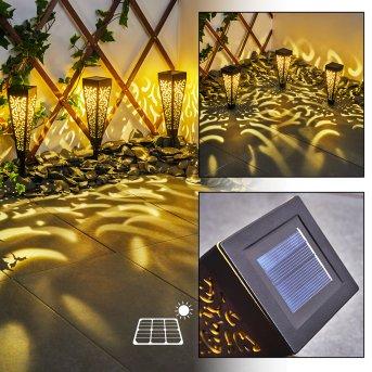 Staranzano Lámpara solar LED Amarillo, Negro, 1 luz