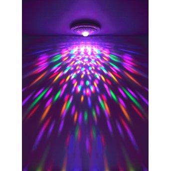 Globo SANTINA Lámpara de Techo LED Blanca, 1 luz, Mando a distancia