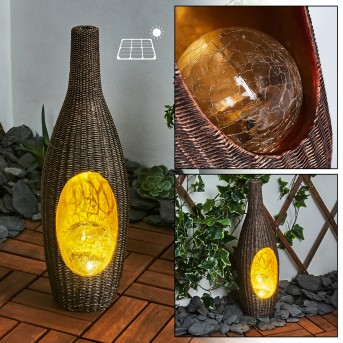 Otterstad Lámpara solar LED Marrón, dorado, 1 luz