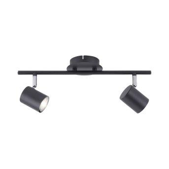 Leuchten Direkt TARIK Lámpara de Techo LED Negro, 2 luces