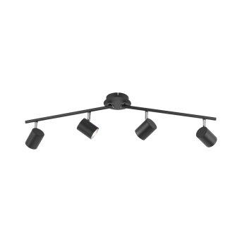 Leuchten Direkt TARIK Lámpara de Techo LED Negro, 4 luces