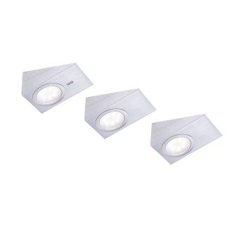 Leuchten Direkt THEO Lámpara para armarios LED Acero inoxidable, 3 luces