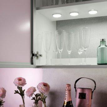 Leuchten Direkt THEO Lámpara para armarios LED Plata, 3 luces