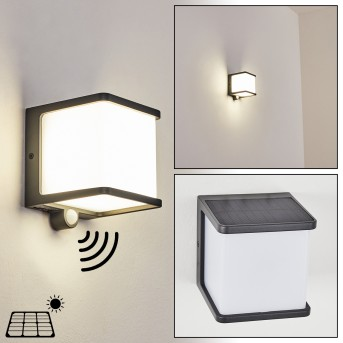 Burseryd Lámpara solare LED Negro, 1 luz, Sensor de movimiento