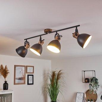Banjul Lámpara de Techo Negro, Marrón, 4 luces