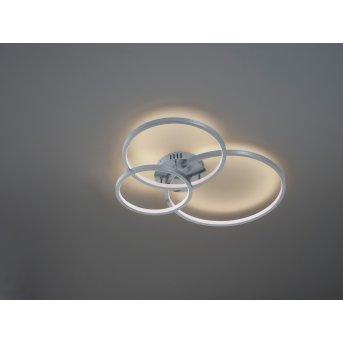 Trio Aaron Lámpara de Techo LED Níquel-mate, 1 luz, Mando a distancia, Cambia de color