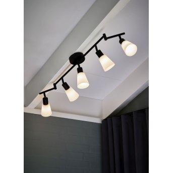 Nordlux COLE Lámpara de Techo Negro, 5 luces