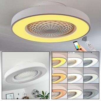 Penon Ventilador de techo LED Blanca, 1 luz, Mando a distancia