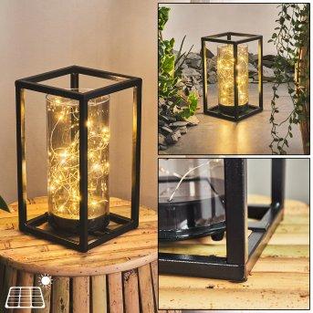 Aracaju Lámpara solar LED Negro, 30 luces
