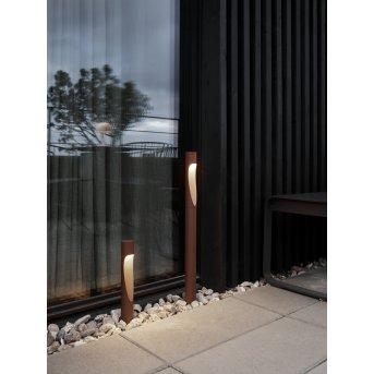 Louis Poulsen Flindt Poste de Jardín LED Color óxido, 1 luz
