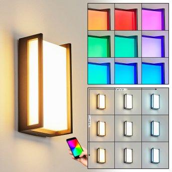 Skove Aplique para exterior LED Antracita, 1 luz, Cambia de color