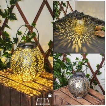 Moreland Lámpara solare LED Negro, Plata, dorado, 1 luz