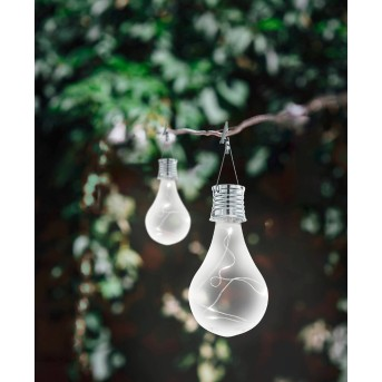 Eglo BULB Lámpara solar LED Plata, 5 luces