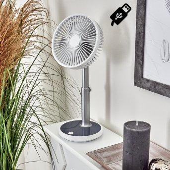 Visting Ventilador de mesa LED Gris, Blanca, 1 luz