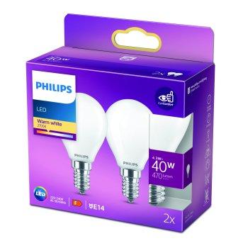 Philips 2x LED E14 4,3 Watt 2700 Kelvin 470 Lumen