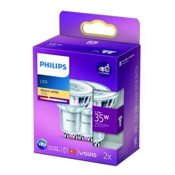 Philips 2x LED GU10 3,5 Watt 2700 Kelvin 255 Lumen
