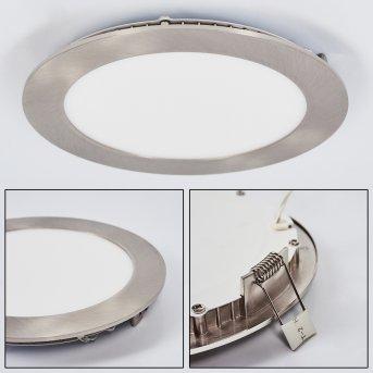 Finsrud Lámpara empotrable LED Níquel-mate, 1 luz