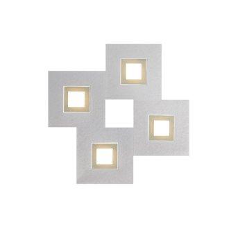 Grossmann KARREE Lámpara de techo o pared LED Aluminio, champán, 4 luces