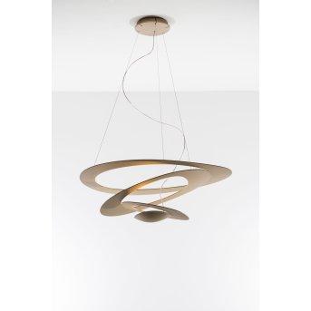 Artemide Pirce Mini Lámpara Colgante LED dorado, 1 luz