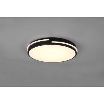 Reality Tacoma Lámpara de Techo LED Negro, 1 luz, Mando a distancia