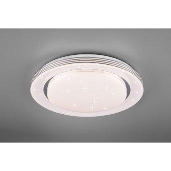 Reality Atria Lámpara de Techo LED Blanca, 1 luz, Mando a distancia