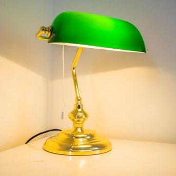 Lámpara banquero Latón, 1 luz