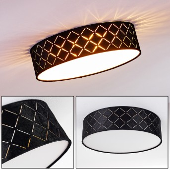 Chazy Lámpara de Techo Blanca, 1 luz