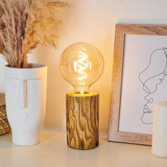 Canedo Lámpara de mesa Negro, Crudo, 1 luz