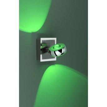 Leuchten-Direkt LOLA-OPTI Aplique LED Acero inoxidable, 2 luces, Mando a distancia, Cambia de color