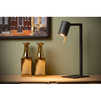 Lámpara de escritorio Lucide LESLEY Negro, 1 luz