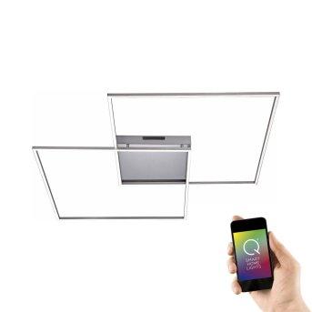 Lámpara de Techo Paul Neuhaus Q-Inigo LED Acero inoxidable, 2 luces, Mando a distancia