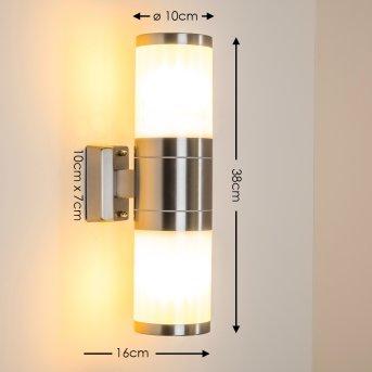 TOLSONA Aplique para Exterior Acero inoxidable, 2 luces