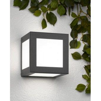 Cmd Aqua Cubo Aplique Antracita, 1 luz