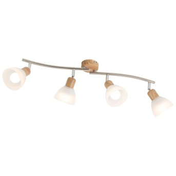 Lámpara de focos Nino Leuchten DAYTONA LED Madera clara, 4 luces