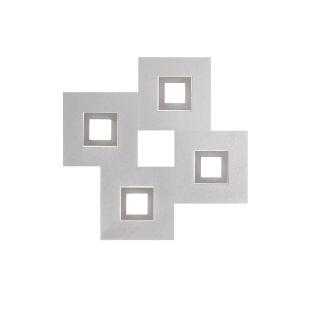 Grossmann KARREE Lámpara de techo o pared LED Aluminio, Titanio, 4 luces