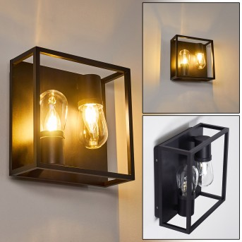 Karlsborg Aplique Negro, 2 luces