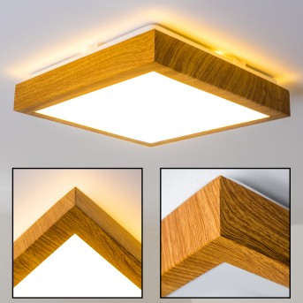 Sora Wood Lámpara de Techo LED Madera clara, 1 luz