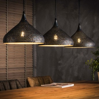 Wildervanksterdallen Lámpara Colgante Negro, Marrón, 3 luces