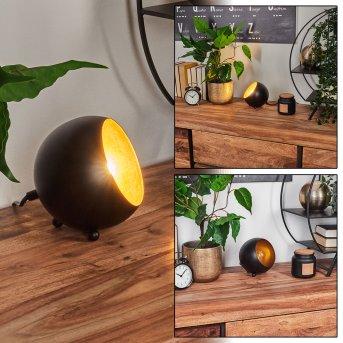 Hajo Lámpara de Mesa Negro-dorado, 1 luz