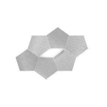 Grossmann Linde Aplique LED Aluminio, 1 luz