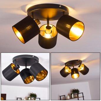 Alsen Lámpara de Techo Negro, 3 luces