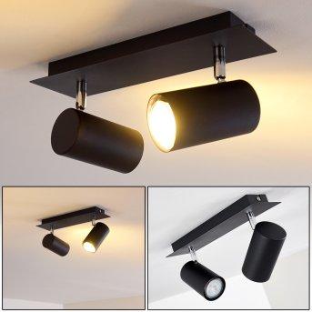Lámpara de Techo Zuoz Negro, 2 luces