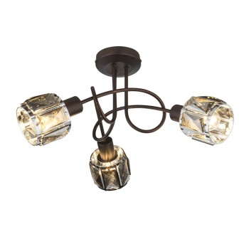 Globo INDIANA Lámpara de Techo Bronce, 3 luces